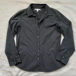 EUC Black Stretch Button Down Dress Shirt, Size L